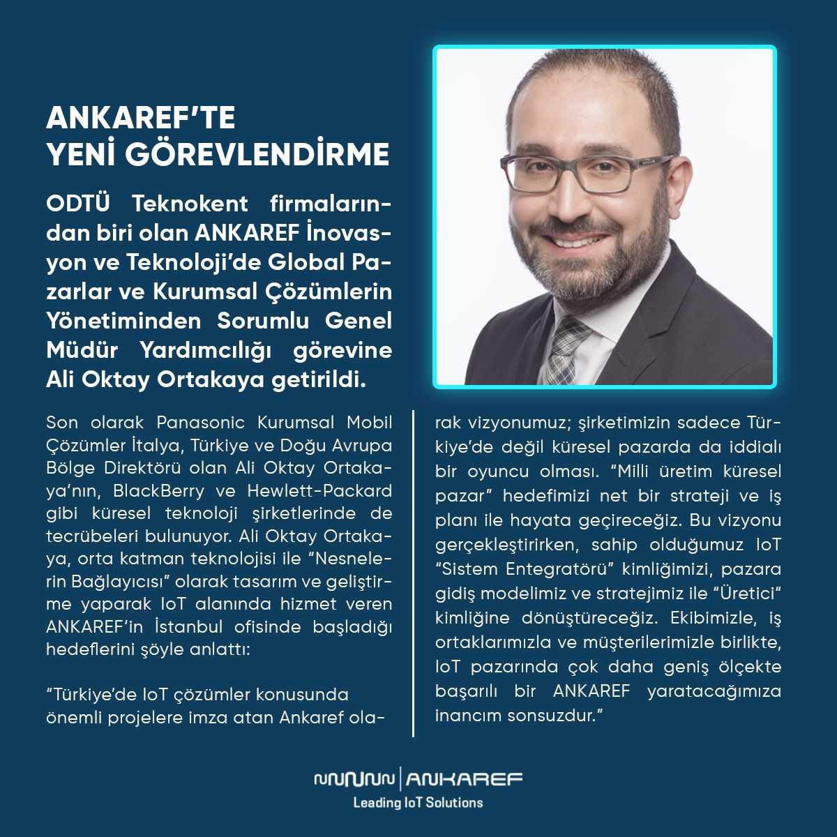 Türkiye'nin Lider IoT Hizmet Sağlayıcısı ANKAREF'te Yeni Görevlendirme